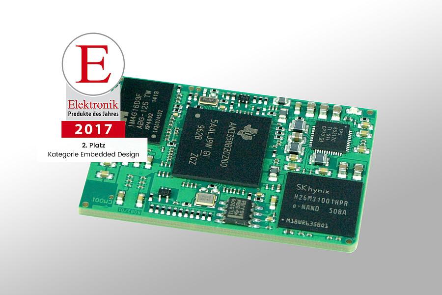 BeagleCore: 2. Platz bei der Wahl zum Produkt des Jahres 2017 der Elektronik