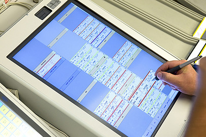 Reflection-free touch screen - IPS monitor for permanent operation