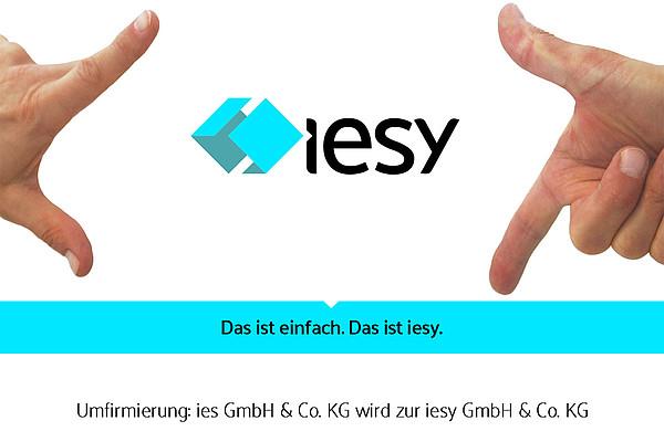 Aus ies wird iesy - Abschluss des Corporate-Relaunchs zum 01.04.2016