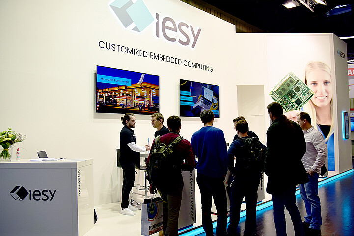 embedded world 2020 - iesy Messestand Stand I-580