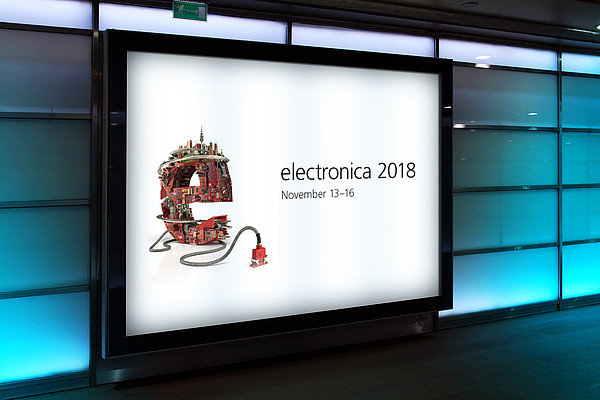 electronica 2018 - iesy Messestand in Halle B5, Stand 101