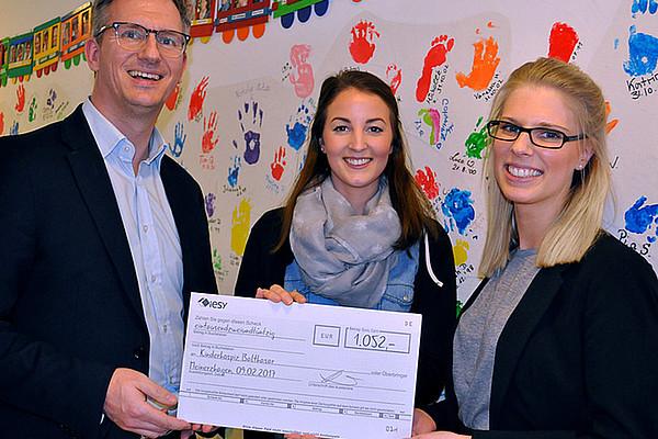 Spendenübergabe - Besuch beim Kinder- und Jugendhospiz Balthasar