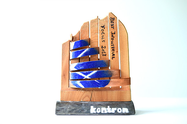 Kontron Award for ies - Trophy for the 'Best Industrial Focus' from Kontron in 2013